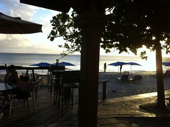 Divi Little Bay Beach Resort: view from SeaBreeze Bar at Divi- Christmas 2012