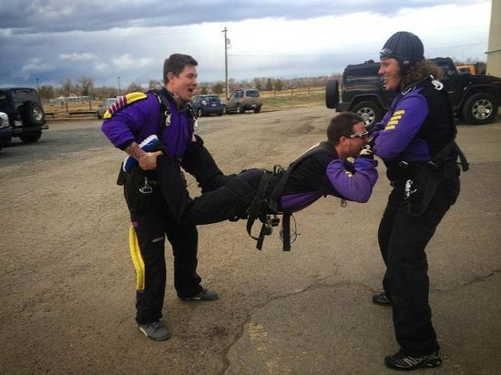Mile-Hi-Skydiving: Waiting to actually jump out of the plane!!
