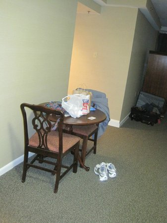 The Windsor Suites: Our little dining table.  The kitchen is right past the table and to the left, where the light i