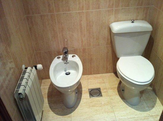 Hotel Ciudad de Burgos : Baño, muy antiguo pero limpio.