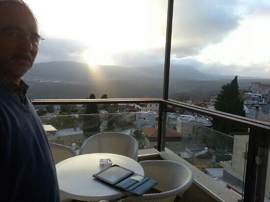 Pelech Harimmon : sunset over Mt. Meron