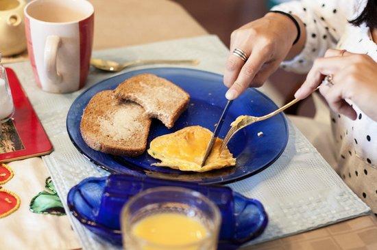 Hilltop Hideaway Bed and Breakfast : wonderful breakfast