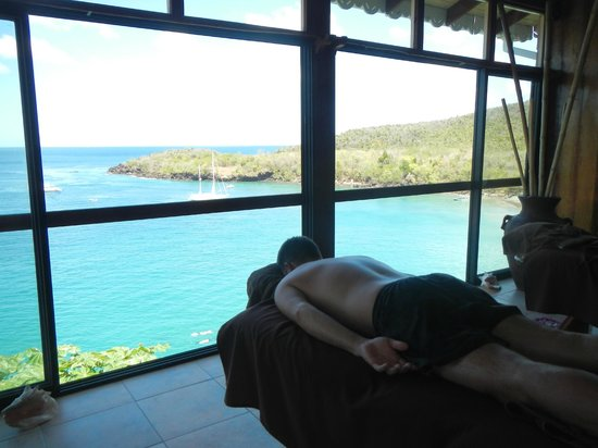 Ti Kaye Resort & Spa: vue du massage