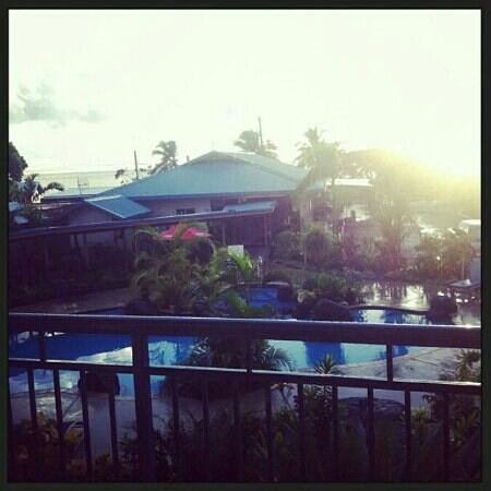Amanaki Hotel: View I woke up to for the best 10 days in Samoa.