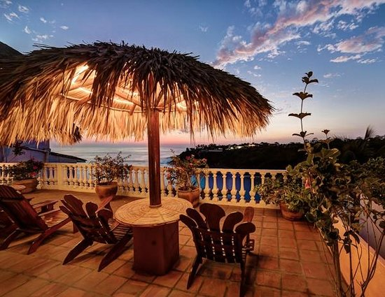 View of the bay from the patio of Villas Carrizalillo