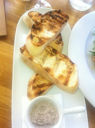 Ellenix: Grilled sour dough with balsamic salt?