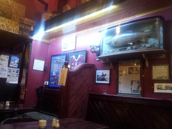 Burkes Bar and Restaurant: Record Trout on Display in Burke's