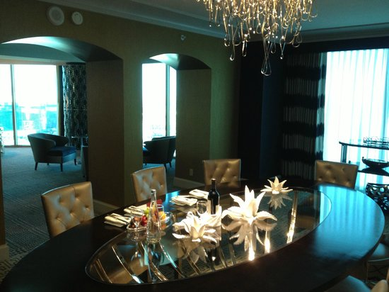 Four Seasons Hotel Las Vegas: Dining Room and Sitting Area - Presidential Suite