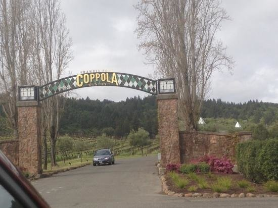 Francis Ford Coppola Winery: entering the winery