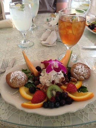 The Garden Gate Tea Room: chicken salad with fruit