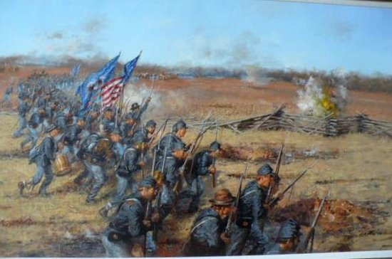 Pea Ridge National Military Park: A picture of the battle lines.