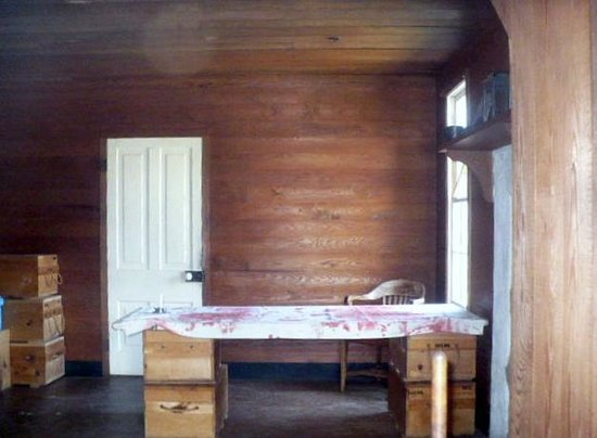 Pea Ridge National Military Park: Inside the Elkhorn Tavern where it appeared to have been used as a hospital