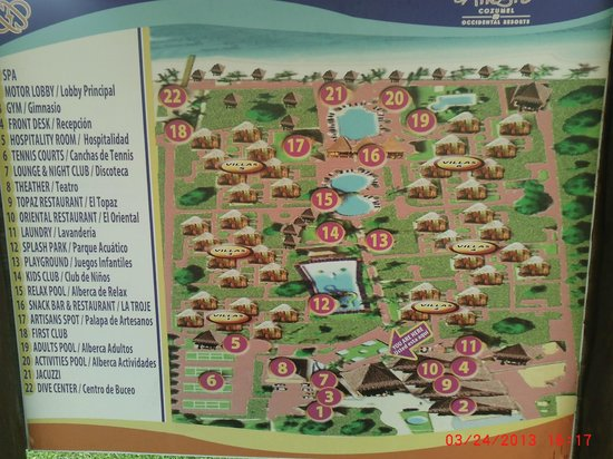 Map of grounds at Allegro Cozumel