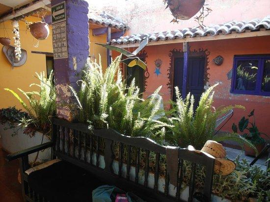 Hostal Posada Mi Casa: El patio