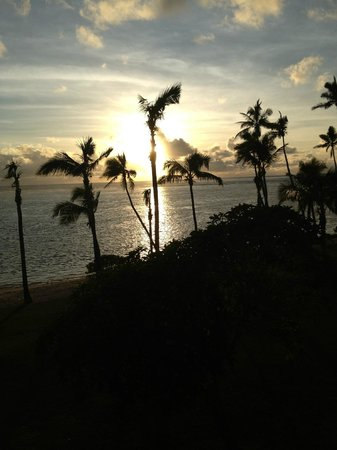 Shangri-La's Fijian Resort & Spa: Sunset from my balcony