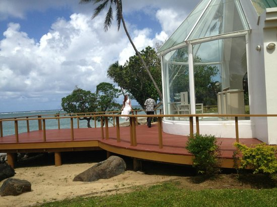 Shangri-La's Fijian Resort & Spa: Wedding chapel on island