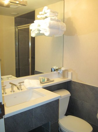 Harborside Inn: Bathroom (Atrium room 508)