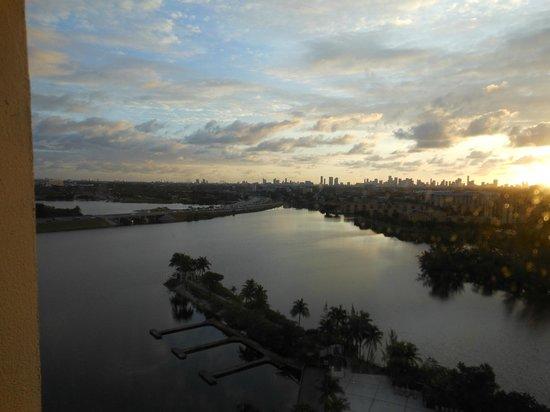Hilton Miami Airport: Atardecer