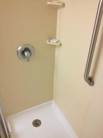 Hampton Inn Dallas / Addison: Narrow Shower, but very clean.