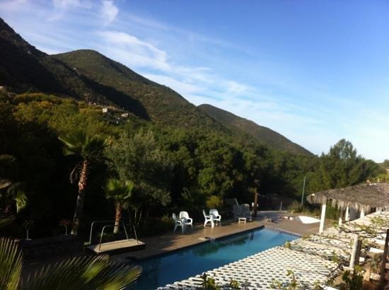 Casa Encinares Bed and Breakfast: vista panorámica de la alberca