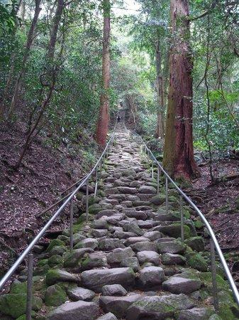 Kumano Magaibutsu: 鬼が築いたいう石段。