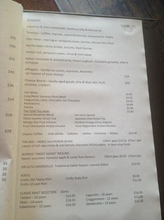 FORD'S Restaurant & Bar : menu 3
