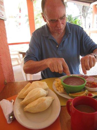 Tropical Paradise Restaurant: Stuffed jacks,  or fry-jacks -- also excellent!