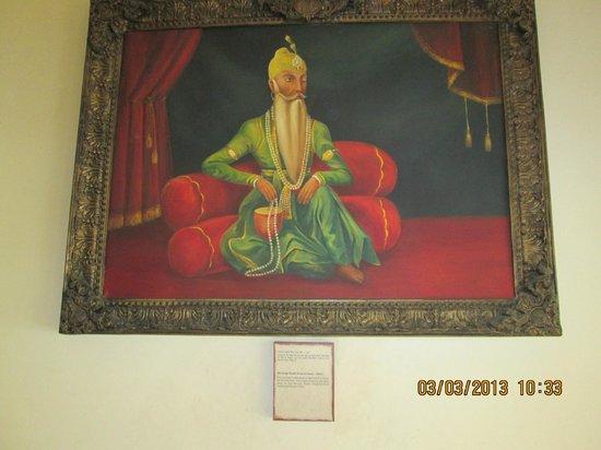 Maharaja Ranjit Singh Museum: Portrait of Maharajah Ranjit.Singh.
