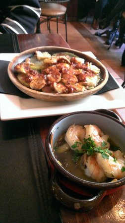 Biscaya Tapas Bar: Pulpo and Gambas. It was super yummy!