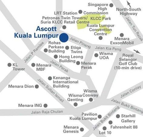 Ascott Kuala Lumpur: Map
