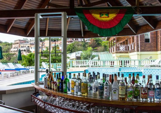 Kalinago Beach Resort: Bar by the pool