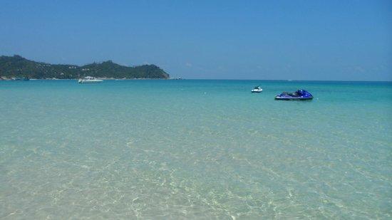 Koh Phangan Dreamland Resort: Blick auf das Meer vom südlichen Strandteil