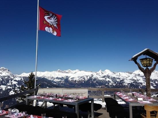 Bergrestaurant Wasserngrat: vue de la terrasse