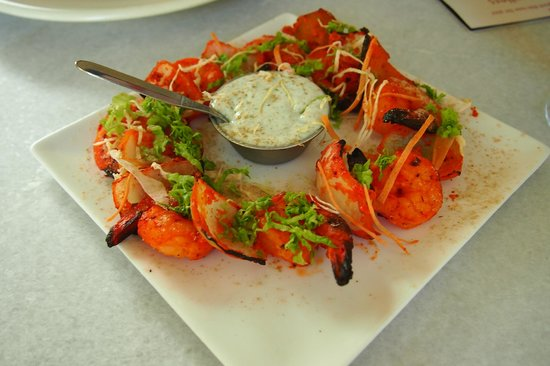 Mantra Arrowtown: tandoori prawn