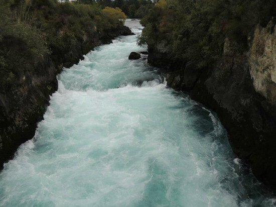 Huka Falls view over bridge.