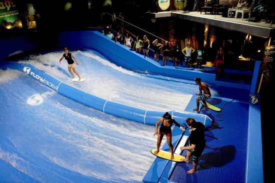 Kata Beach, Thailand: Double FlowRider surf machine, coolest playground in Phuket.