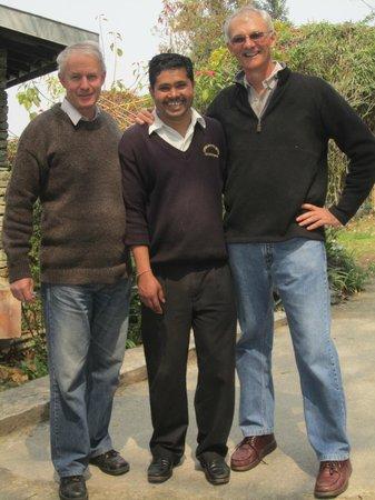 Mayfair Himalayan Spa Resort: Staff member Kumar with guests