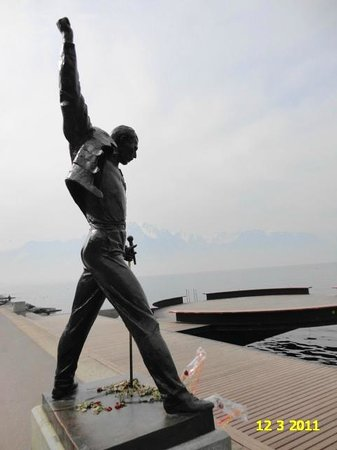 awesome statue of freddy mercury in montreux switzerland picture