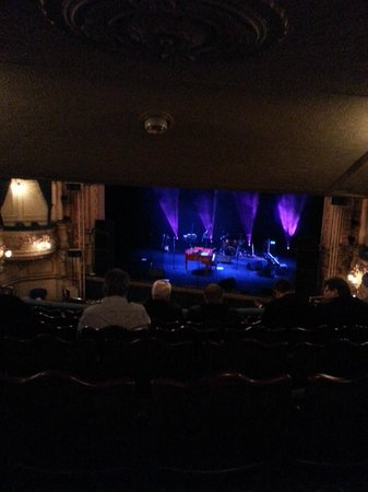 The Grand Theatre Blackpool: Chubby Brown, before the show, from the back of the dress circle