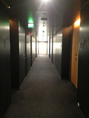 Scandic Paasi: Hallway leading to my room