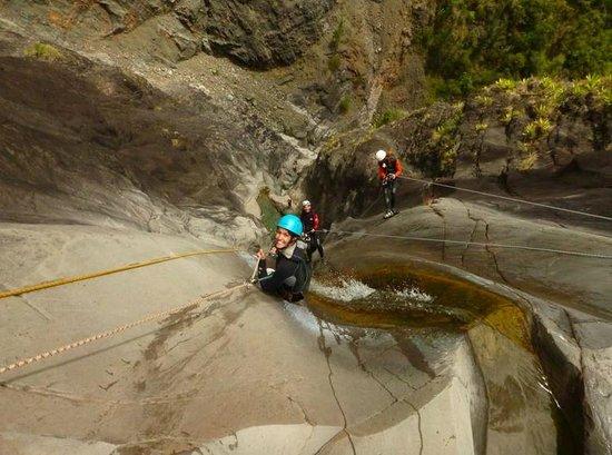 Cilaos, Reunion Island: Canyoning de Fleur jaune