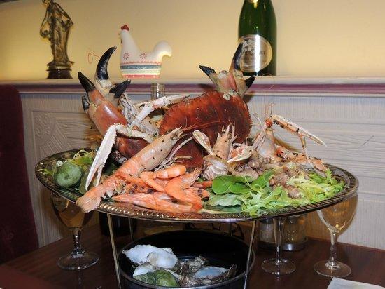 Hotel Le Carnot : Plateau fruits de mer...