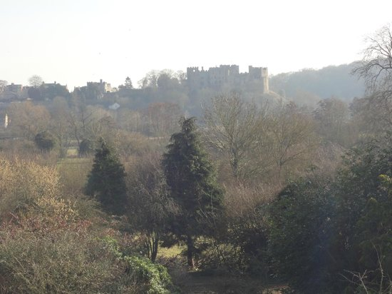 Whitfield House: View of the castle from our room