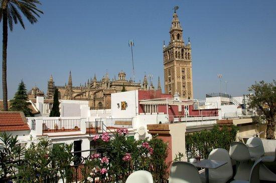 Hotel Palacio Alcazar: View from hotel terrace cafe