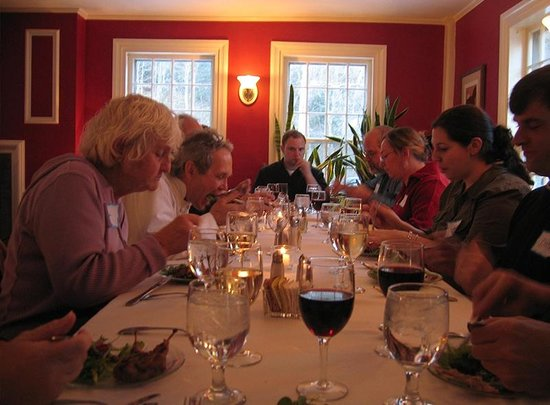 Inn at Baldwin Creek Cooking Classes: wine is included with the meal you prepare and eat