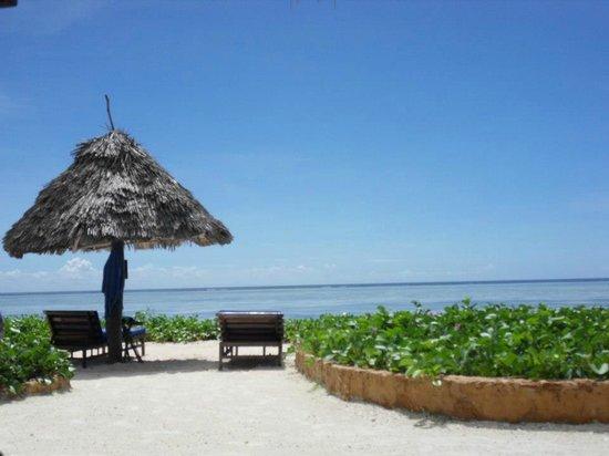 Breezes Beach Club & Spa, Zanzibar: View from the beach area of the hotel
