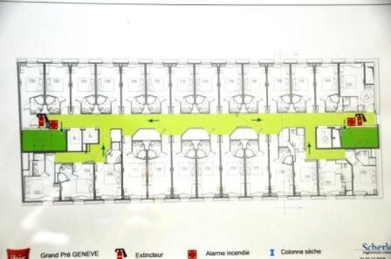 The floor plan - Picture of ibis Geneve