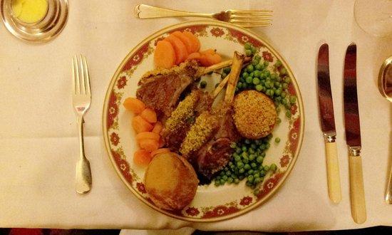 Pen Y Gwryd Hotel: A delicious rack of lamb