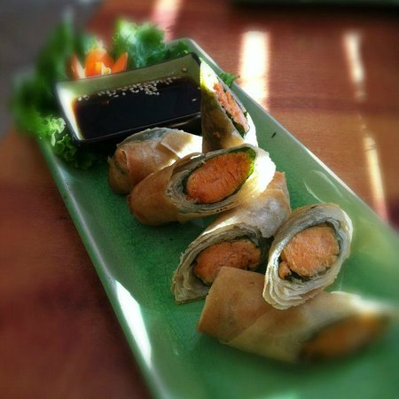 Thai Silk Restaurant : Salmon Rolls