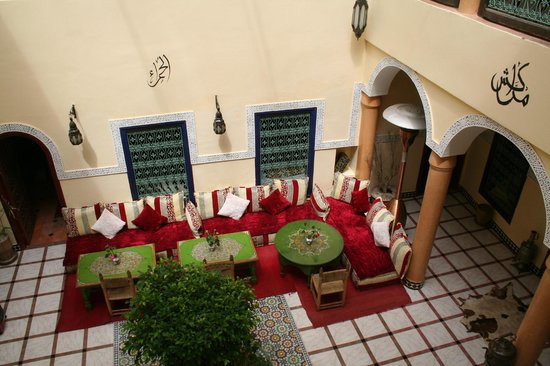 Riad ABHAR : The view of the internal courtyard from our room